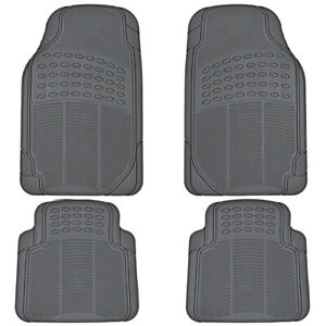 Car Floor Mats For All Weather Semi Custom Fit Heavy Duty Trimmable Gray