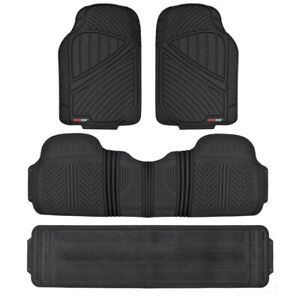 Black 4pc Rubber Floor Mat Car Suv Heavy Duty All Season Mats Liner Bpa Free