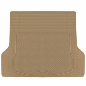 Cargo Trunk Floor Mat Liner For Car Suv Truck All Weather Semi Custom Fit Beige