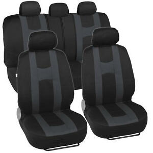 Sporty Seat Covers For Car Suv Rome Sport Racing Stripes Black