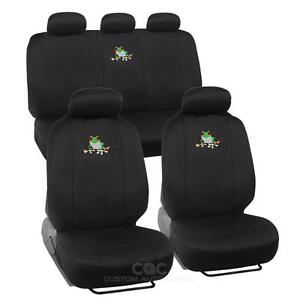 Cute Frog Car Seat Cover Front Rear Full Set Auto Accessory Universal Fit