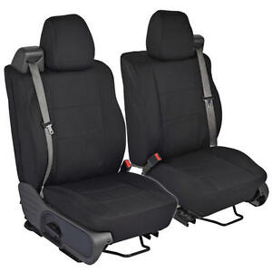 Black Front Pair Custom Seat Covers For Ford F 150 04 08 Integrated Seat Belt