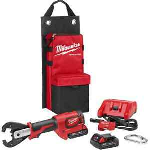 Milwaukee 2678 22k M18 Force Logic 6t Utility Crimper Kearney Grooves