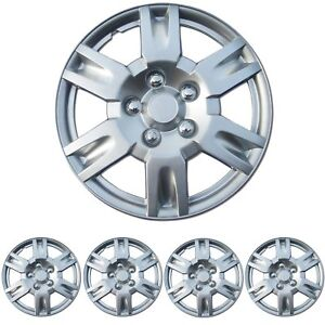 4 Pc Set 16 Silver Hubcaps Wheel Cover Oem Replacement Skin Cover