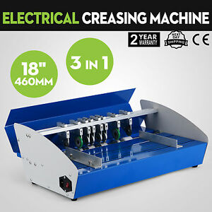3in1 18 Electric Creasing Machine Paper Creasers Cutters Manual Office