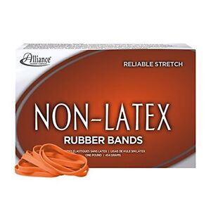 Alliance Latex Free Orange Rubber Bands Size 64 3 1 2 X 1 4 Inches 380 1 Pound