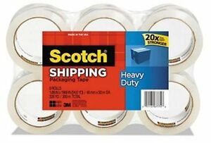 Heavy Duty Shipping Packaging Tape 1 88 Inches X 54 6 Yards 8 Rolls 3850 8