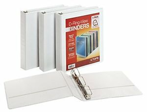 New Cardinal 1 5 Inch D Ring View Binders 4 Per Pack White 48980 Free Shipping