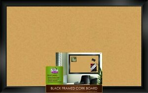New The Board Dudes Black Framed Cork Board 35 X 22 Free Shipping