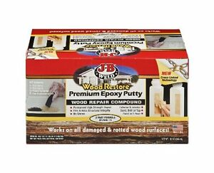 New J B Weld 40006 Wood Restore Premium Epoxy Putty Kit 32 Oz Free Shipping