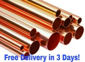3 Copper Pipe Type L X 10 Inch Length