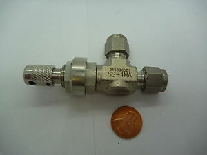 Swagelok Ss 4ma 1 4 Compression Medium Flow Angle Metering Valve Stainless