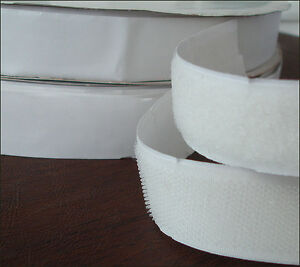 1 X 27 Yard Self Adhesive Hook And Loop Fastener Sticky Tape White