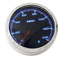 Smoke Lens 3 1 8 Electrical 140mph Speedometer With Led Lights Hot Rod Racing
