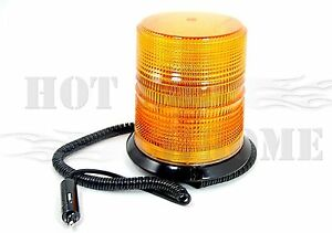 Amber Strobe Truck Trailer Alert Light With Magnetic Mount 6 125 High