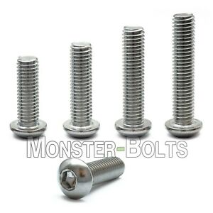 M6 1 00 Stainless Steel Button Head Socket Cap Screws Metric Iso 7380 A2 18 8