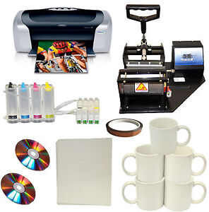 Mug Cup Heat Press Epson Printer Sublimation Ciss Ink Kit transfer Paper Package
