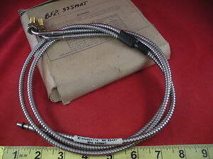 Banner Bf2 53smat Sensor Fiber Optic Cable Stainless Steel Ss Glass 20394 New