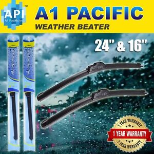 All Season Bracketless J Hook Windshield Wiper Blades Oem Quality 24