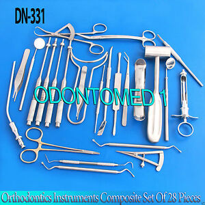 Orthodontics Instruments Composite Set Of 28 Pieces Dental Ortho Tools dn 331