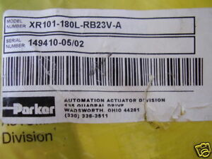 New Parker Pneumatic Rotary Actuator Xr101 180l rb23v a