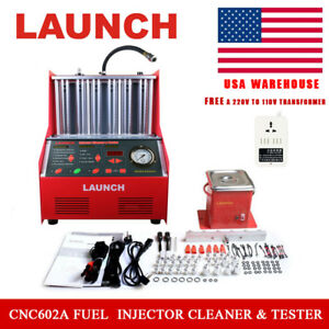 Launch Cnc602a Ultrasonic Fuel Injector Tester Cleaner For Petrol Car 110v Usa