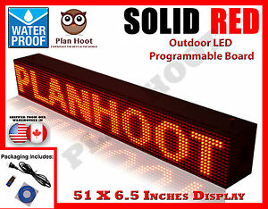 Red 51 x6 5 Led Programmable Scrolling Sign Outdoor 100 Water Proof