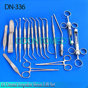 18 Dental Impalnt Sinus Lift Set Dentistry Surgical Instruments Full Kit Dn 336