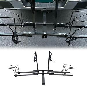 2 Bike Bicycle Carrier Hitch Receiver 2 Heavy Duty Mount Rack Truck Suv