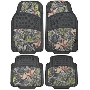 Camouflage Rubber Camo Floor Mats All Types Of Weather 4 Piece Waterproof