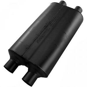 Flowmaster Super 50 Muffler 2 25 Dual In 2 25 Dual Out Mild Sound 524554
