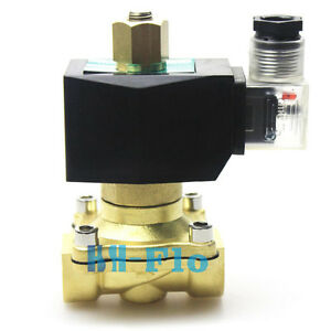 Normally Open Electric Solenoid Valve 1 Npt Ac220v 240v For Gas Water Air