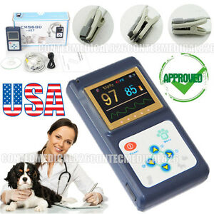 Us Stock Color Veterinary Pulse Oximeter Vet Spo2 Tongue Sensor software new