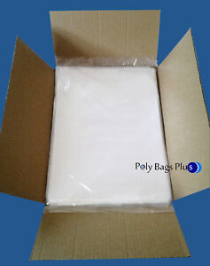 5000 9x12 Clear Poly Bags Lay flat 1mil Open Top End Plastic Baggies T shirt