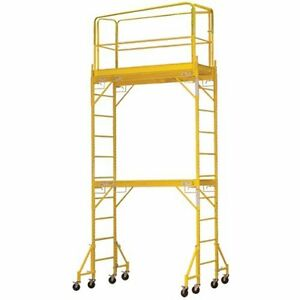 Pro series Towerint Two Story Interior Rolling Scaffold Tower