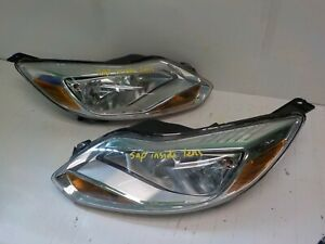 Pair Set Of Oem Ford Focus 2012 2013 2014 Headlight Assembly A Grade