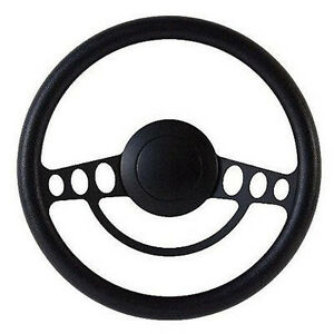 Black On Black Billet Hot Rod Steering Wheel 9 Hole For Gm Columns Ididit
