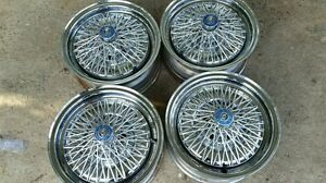 Plymouth Barracuda Valiant Mopar13 5 Lug Cragar Chrome Wire Basket Wheels