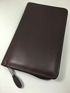 Day timer Portable Leather Planner Franklin Covey Compact Filofax Personal