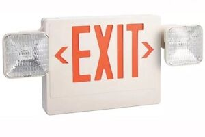 Lumapro Exit Sign W emergency Lights 5 4w red Item 6cgl7