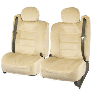 Truck Seat Covers Front Pair Tan Scottsdale Built in Seat Belt For Chevy Tahoe