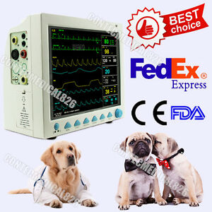 Us Fedex veterinary Icu Patient Monitor Animal Vital Signs Machine 6 Parameters