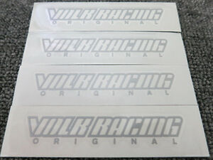 Jdm New 4pc Sticker Decals 17 19 Inch Rims Wheels Rays Volk Te37 Rt Sl Silver