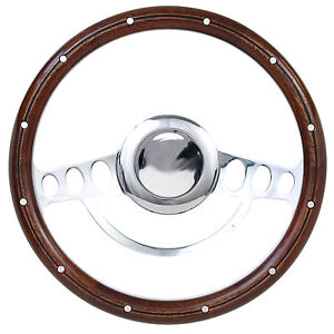 Nostalgia Hot Rod Steering Wheel For Flaming River Ididit Gm 9 Hole Column