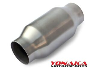 Yonaka 2 5 Id Ultra High Flow Metal Core Race Universal Cat Catalytic Converter