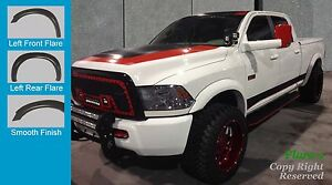 Fender Flares Extension Style 2010 2016 Dodge Ram 2500 3500 Paintable Finish