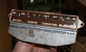 42 47 Packard Clipper Gauge Cluster Water Oil Amp Fuel Vintage