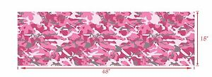 Gloss Pink Decal Made From 3m Wrap Vinyl 48x15 Truck Camo Print Camouflage