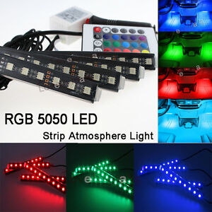 Rgb Color Bar Glow Dash Footwell Interior Light 5050 Led Strip Lamp For Nissan