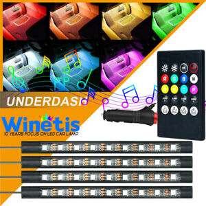 Rgb Color Bar Glow Dash Footwell Interior Light 5050 Led Strip Smd For Chevy